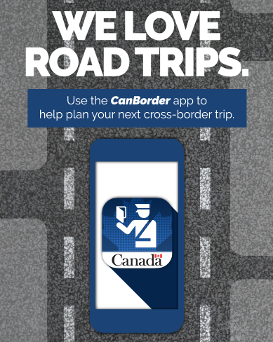 We love road trips - Use the Canborder app to help plan your next cross-border trip