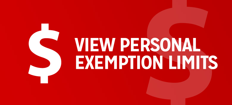 View personal exemption limits