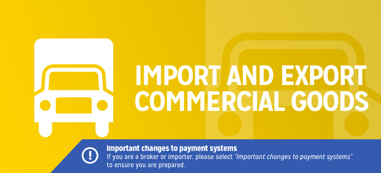 Import and export commercial goods