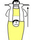 A person is performing Chin-ups Medium Grip.