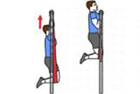 A person is performing Chin-ups with a Pulling Assistance Device.