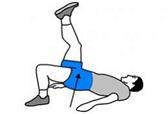 A person is performing a One Foot Hip Raise.