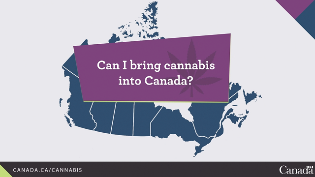 Laws for cannabis at the Canadian border
