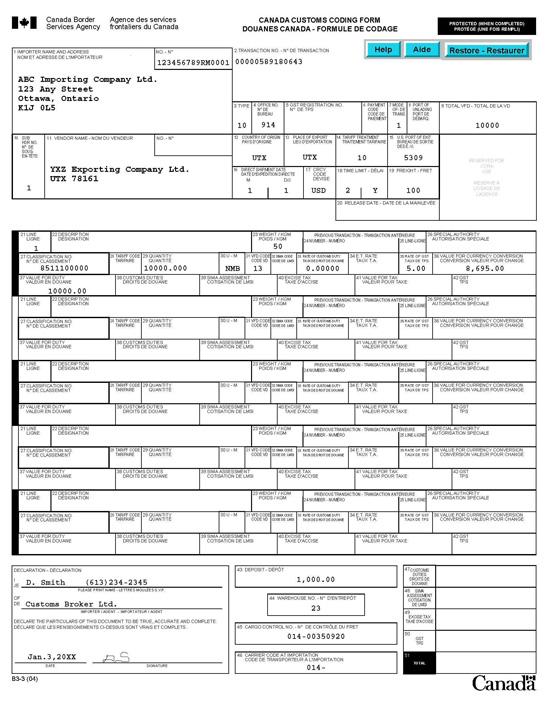 M 233 Morandum D17 1 10 Codage Des Documents De D 233 Claration