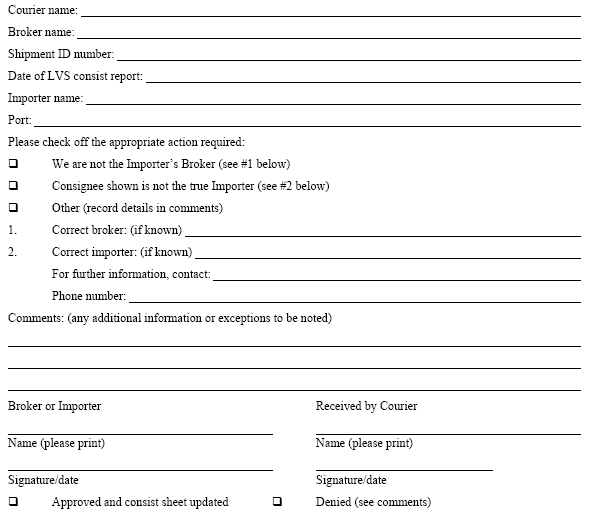 courier delivery form template – Sign off Form