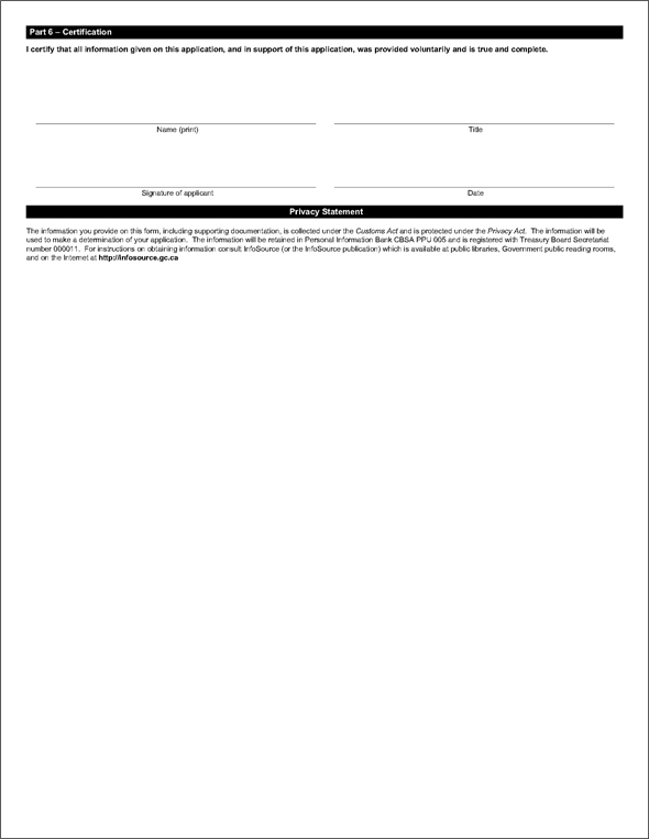 Sample of Form BSF266, Penalty Reinvestment Agreement (PRA) Application Form - Page 3