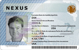 Nexus Trusted Traveler Card